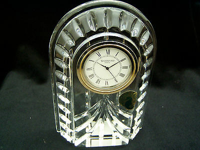 "WATERFORD CRYSTAL ""OVERTURE SMALL MANTEL CLOCK"""