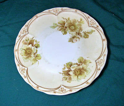 """Vintage Three Crown China Floral 8 1/4"""" Plate Platter Made in Germany scalloped"""