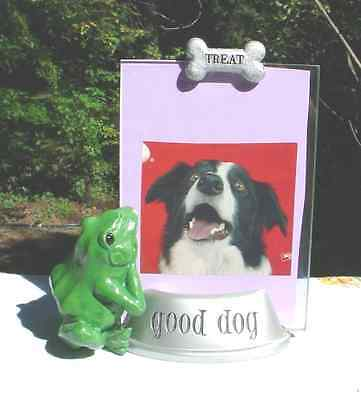 For DOG LOVER only GLASS FRAME Fun Home Decor Show case put a Photo on each side