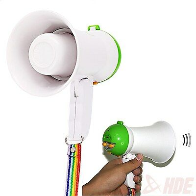 Mini Portable Handheld Megaphone Foldable 5W Speaker Bullhorn Voice Amplifier