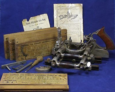 Vintage Stanley No. 55 Universal Plane Box Cutters 1-4 Wood Working Tool Antique