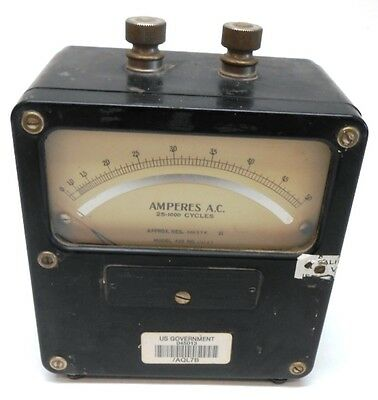 Weston Electrical Instrument Corp, Model 433, Ac Amperes Meter, 111127, 0-50 A