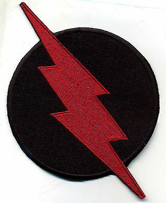 "4"" Large Fully Embroidered Chest Insignia Patch - Professor Zoom - Reverse Flash"