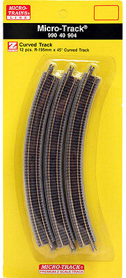 Micro-Trains MTL Z-Scale Micro-Track - 195mm 45 Degree Curve Track 12 Sections