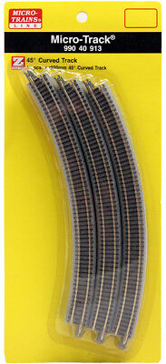 Micro-Trains MTL Z-Scale Micro-Track - 220mm Radius 45 Degree Curve 12 Sections