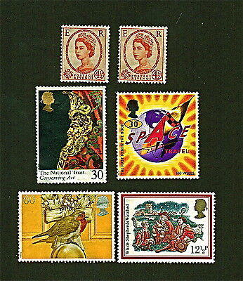 Great Britain 6 Stamps,1990's, MINT, 5-OG, 1-NG, NH, SEE PICS/DESCRIPTIONS  FN79