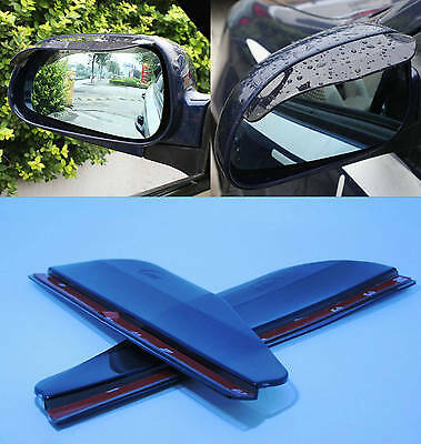 2x Transparent Black Car Rearview Mirror Rain Water Eyebrow Cover Side Shield #A