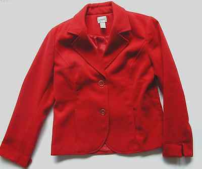 Chico's Design 1 Red Coat Jacket Lined Blouse Shirt