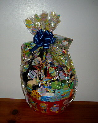 MICKEY MOUSE CLUBHOUSE EASTER BASKET MICKEY PLUSH TOYS LIGHT UP CUP CANDY NEW