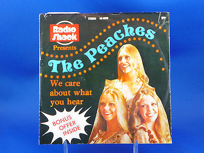 """THE PEACHES - We Care About What You Hear - 1974  w/PICTURE SLEEVE """"Radio Shack"""""""