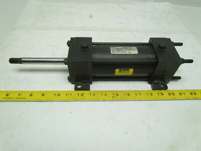 "Parker 1.50KCTC2AU14A14AC Pneumatic Air Cylinder 1-1/2"" Bore 4""Stroke Double Rod"