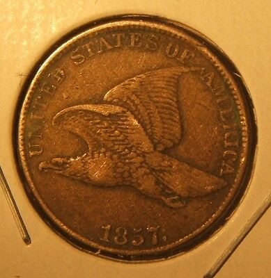 1857 Flying Eagle Cent~~Vf-Xf~~Tough Date