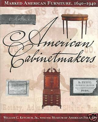 American Antique Furniture 1640-1940 - 1,000+ Makers Marks Labels / Book