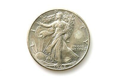 1942 P Walking Liberty Half Dollar Grades About Uncirculated WL437