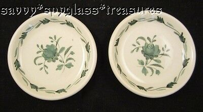 TWO Vintage Adams Ironstone China Lincoln Pattern Butter Pats