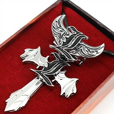 Death Note Letter L Pendant Necklace & Ring 2pcs Set New in Box