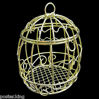 Gold Metal Wire Bird's Cage Birdcage 1/6 Scale Barbie Doll's Dollhouse Miniature