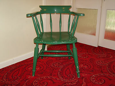 -vintage painted elm seated captains chair