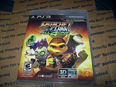 RATCHET AND CLANK: ALL 4 ONE (Sony Playstation 3, 2011) Complete