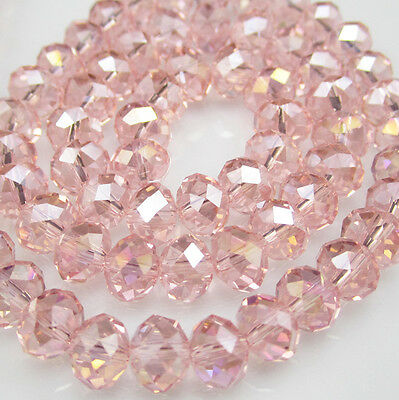 DIY FOr Jewelry Faceted 100pcs Rondelle crystal #5040 3x4mm Beads Hot red AB NEW