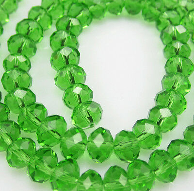 DIY Jewelry Faceted 100pcs Rondelle crystal #5040 3x4mm Beads Green colors NEW