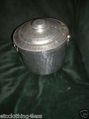 Vintage Hammered Aluminum Ice Bucket  Made in Italy