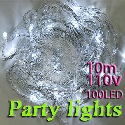 110V 10M 100 LED String lights for Christmas Party Wedding baby room, party