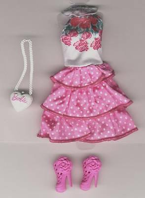 Life in the Dreamhouse Barbie  Dress,- - shoes - purse - Genuine Mattel Items