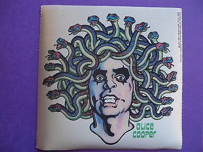 ALICE COOPER 1973 VINTAGE ULTRA RARE IRON ON DECAL TRANSFER POCKET