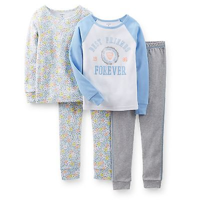 15243b74d1 CARTERS 4-PIECE GIRLS  Snug Fit Pajamas Set -  Best Friends Forever ...