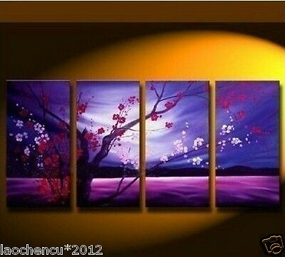 4 pieces Large Modern Abstract Art Oil Painting Wall Decor canvas (NO frame)