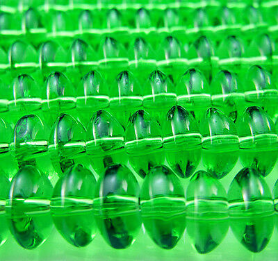 Free 50PCS Green Glass Rondelle Spacer findings Jewelry Design Loose beads 8mm