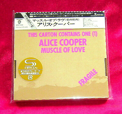 ALICE COOPER Muscle Of Love JAPAN AUTHENTIC SHM MINI LP CD NEW RARE WPCR-14305