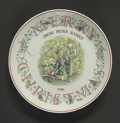 Wedgwood PETER RABBIT CHRISTMAS PLATE 1990 Peter Rabbit 1185343