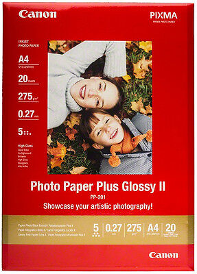 Canon Paper PP-201 265g A4 Photo Paper Plus Glossy II (20 Sheets)