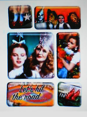 "THE WIZARD OF OZ 6 COUNT EPOXY MAGNET SET 2 3/4""X3/4""X3 3/4"" NEW"