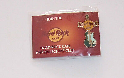 New Sealed HARD ROCK CAFE Collector's Club GUITAR PIN