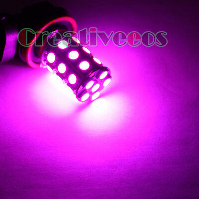 2Pcs H11 5050 SMD 12V Car Foglight DRL Daytime Running LED Fog Light Pink Purple