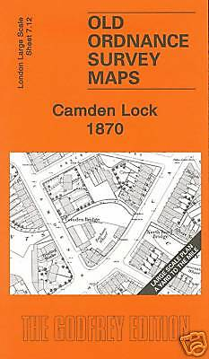 Old Ordnance Survey Map Camden Lock 1870