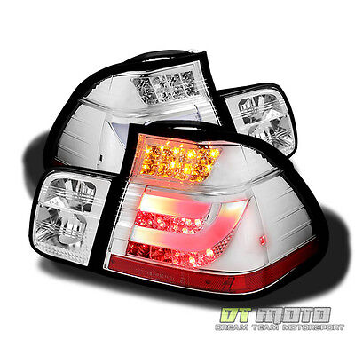 02-05 BMW E46 3-SERIES 4DR PHILIPS-LED PERFORM CLEAR LED TAIL LIGHTS w/LED STRIP