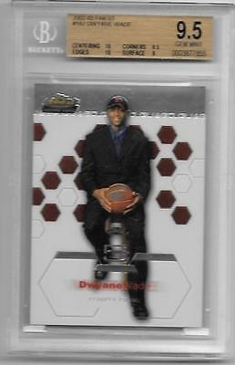 2003-04 Topps Finest Dwayne Wade Rookie BGS 9.5  Subgrades 10,10,9.5,9