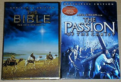 DVD Lot - The Passion of the Christ (Used) The Bible Miniseries (New)