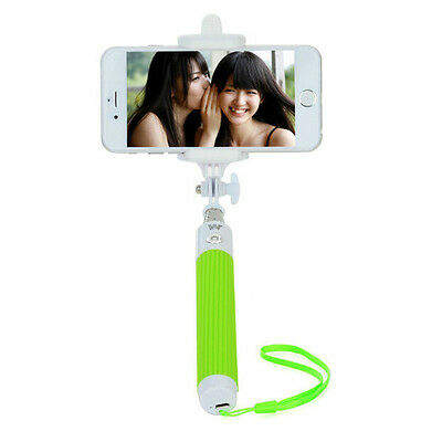 New Bluetooth Extendable Selfie Monopod Stick Pole Holder For IOS Android Green