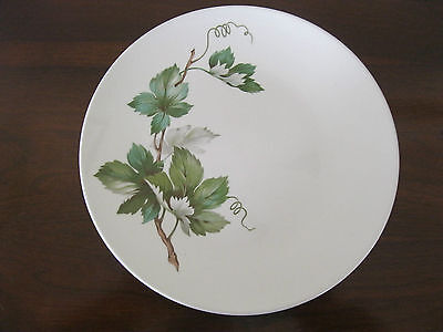 """Vintage Knowles Pottery Grapevine # X-2246-0 Pattern 10 1/4"""" Round Dinner Plate"""