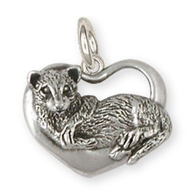 Sterling Silver Ferret Charm Jewelry  FT8-C