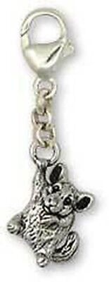 Silver Chinchilla Zipper Pull Jewelry