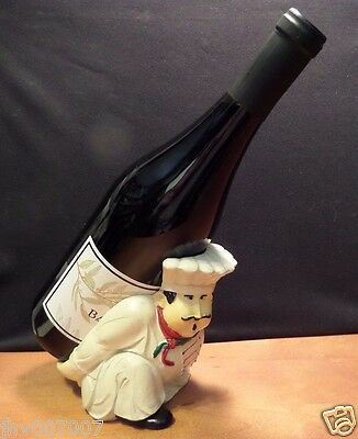 Fat Chef Wine Bottle Holder Collectible by Evergreen Enterprises 6 x 6 x 4 inch