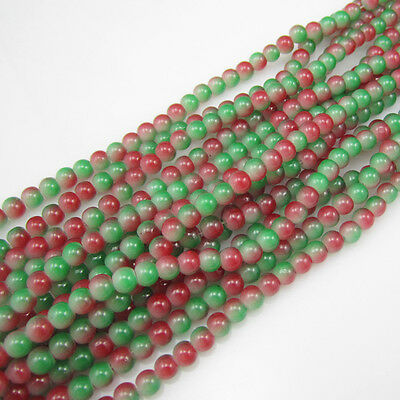Charm 100pcs 4mm Glass crystal Beads for Fit Bracelets Necklaces 2 of mix colors