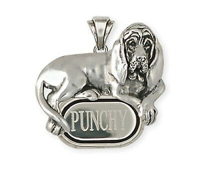 Personalized Sterling Silver Bloodhound Pendant Jewelry BHD5-TP