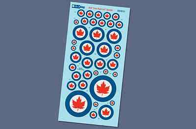 Post-war Canadian Markings - RCAF Silver Maple Leafs - 1/48 Aviaeology Decals